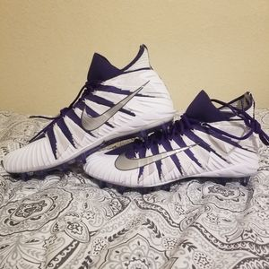 Nike Shoes - NIKE Alpha Menace Elite Flyknit TD Purple Size 15